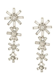 Kenneth Jay Lane embellished flower earrings