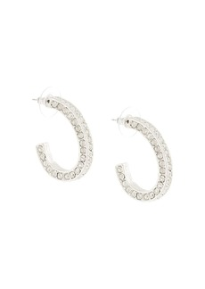 Kenneth Jay Lane embellished hoop earrings