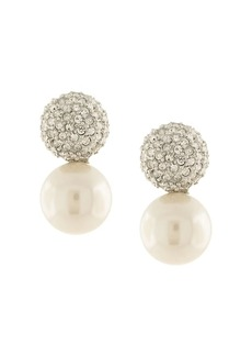 Kenneth Jay Lane embellished pearl earrings