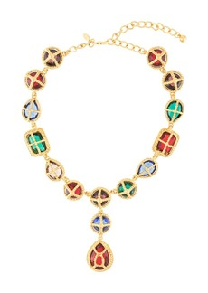 Kenneth Jay Lane gemstones necklace