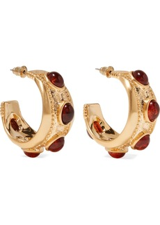 Kenneth Jay Lane Gold-plated And Tortoiseshell Resin Hoop Earrings