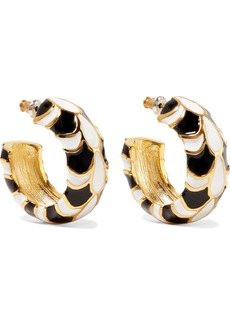 Kenneth Jay Lane Gold-plated And Enamel Earrings