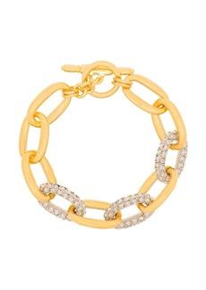 Kenneth Jay Lane crystal-embellished chain bracelet