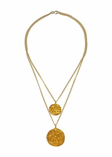Kenneth Jay Lane Gold Two Chain with 2 Coin Pendants