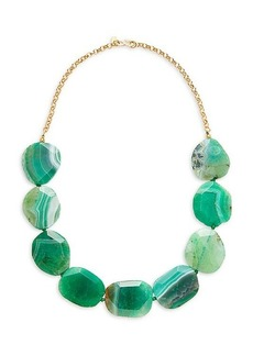 Kenneth Jay Lane Goldplated Agate Stone Necklace