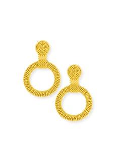 Kenneth Jay Lane Gypsy Hoop Drop Earrings  Yellow