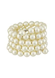 Kenneth Jay Lane 4 Row Cultura Pearl 10mm Coil Bracelet