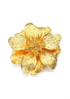 Kenneth Jay Lane Anemone Flower Pin