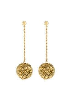 Kenneth Jay Lane Ball & Chain Drop Earrings