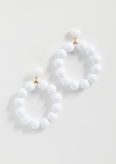 Kenneth Jay Lane Ball Hoop Earrings