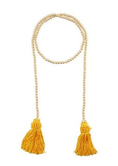 Kenneth Jay Lane Beaded Rope Necklace w/ Tassel Ends