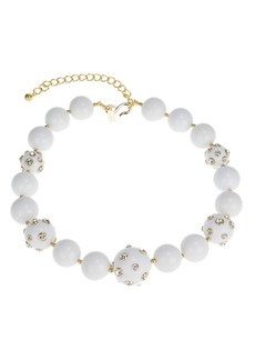 Kenneth Jay Lane Candy Ball Crystal Ball Beaded Choker Necklace