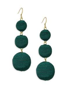 Kenneth Jay Lane Carnival Triple Drop Earrings/Green