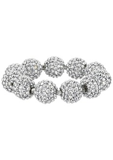 Kenneth Jay Lane Crystal Pave Ball Stretch Bracelet