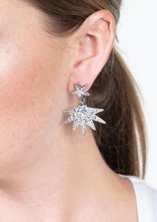 Kenneth Jay Lane Crystal Star Pierced Earring Jackets