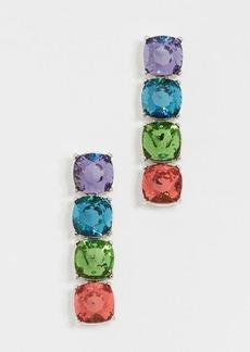 Kenneth Jay Lane Crystal Stone Drop Earrings