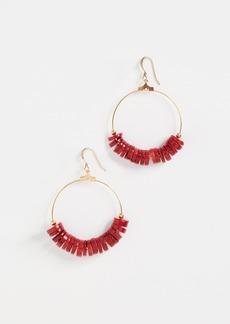 Kenneth Jay Lane Dark Coral Disks Earrings