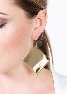 Kenneth Jay Lane Diamond Fishhook Pierced Earrings