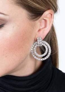 Kenneth Jay Lane Double Doorknocker Clip Earrings