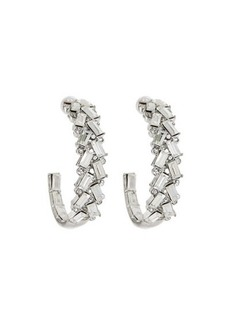 Kenneth Jay Lane Front Crystal Hoop Earrings