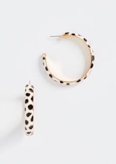 Kenneth Jay Lane Giraffe Print Hoop Earrings