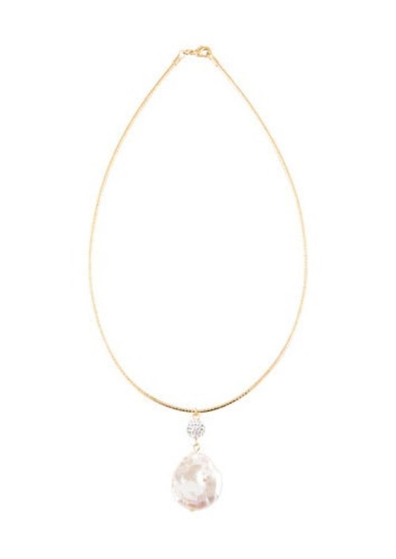 Kenneth Jay Lane Gold Chain White Stone Necklace Gold/white V2SboKEsT