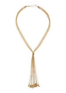 Kenneth Jay Lane Golden Multi-Strand Chain Necklace
