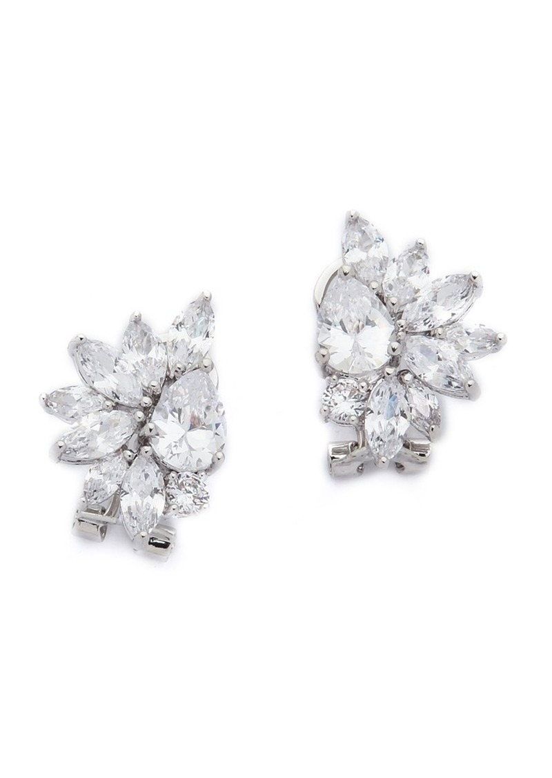 Kenneth Jay Lane Marquis Cer Pear Cz Earrings