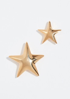 Kenneth Jay Lane Mismatched Star Earrings