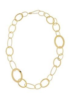 Kenneth Jay Lane Multi-Size Circle Link Necklace