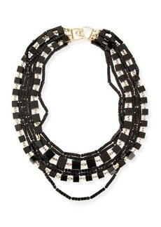 Kenneth Jay Lane Multi-Strand Beaded Cube Necklace