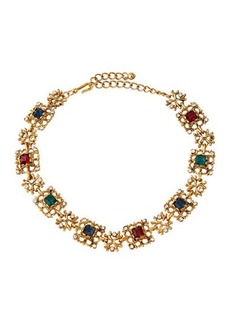 Kenneth Jay Lane Multicolor Crystal Collar Necklace