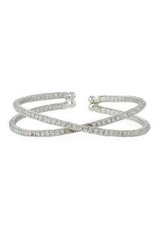 Kenneth Jay Lane Open Crisscross Crystal Bracelet