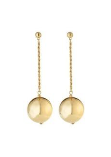 Kenneth Jay Lane Polished Chain w/ Ball Dangle Earrings