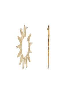 Kenneth Jay Lane Polished Gold Spike Hoop Pierced Earrings