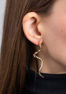 Kenneth Jay Lane Polished Gold Swirl Pierced Earrings