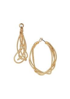 Kenneth Jay Lane Satin Textured Hoop Earrings