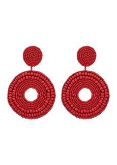 Kenneth Jay Lane Seedbead Circle Drop Direct Pierced Earrings