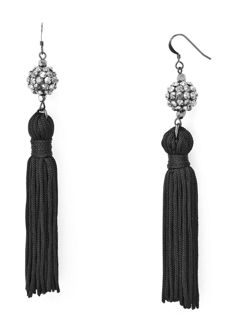 Kenneth Jay Lane Silk Tassel Earrings