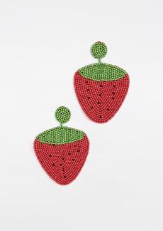 Kenneth Jay Lane Strawberry Drop Earrings