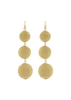 Kenneth Jay Lane Thread Triple-Drop Ball Earrings