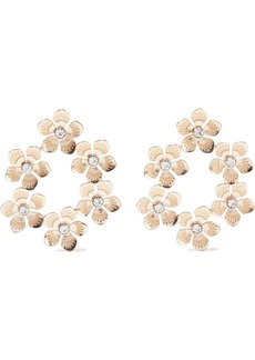 Kenneth Jay Lane Woman 18-karat Gold-plated Crystal Earrings Gold