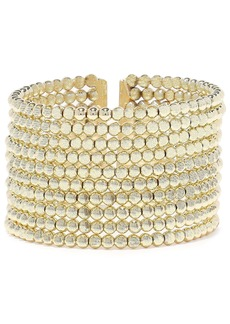 Kenneth Jay Lane Woman 22-karat Gold-plated Beaded Cuff Gold