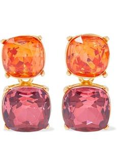 Kenneth Jay Lane Woman 22-karat Gold-plated Crystal Clip Earrings Multicolor