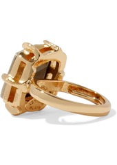 Kenneth Jay Lane Woman 22-karat Gold-plated Crystal Ring Gold
