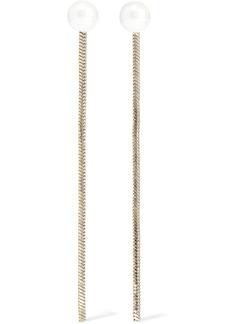Kenneth Jay Lane Woman 22-karat Gold-plated Faux Pearl Earrings Gold