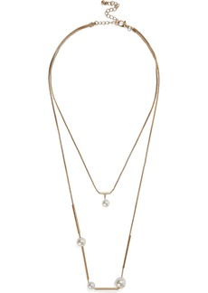 Kenneth Jay Lane Woman 22-karat Gold-plated Faux Pearl Necklace Gold