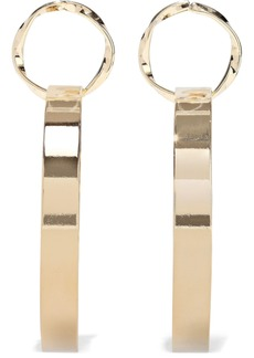 Kenneth Jay Lane Woman 22-karat Gold-plated Hoop Earrings Gold