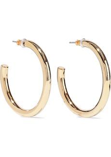Kenneth Jay Lane Woman 22-karat Gold-plated Hoop Earrings Gold