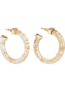 Kenneth Jay Lane Woman 22-karat Gold-plated Resin Hoop Earrings Gold